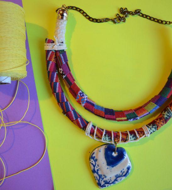 Collar Hippie chic pink 3