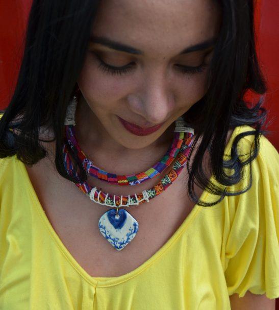 Collar Hippie chic pink