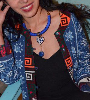 Collar Blue style morenita mia