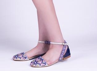 Calzado artesanal con chaquira bordada 2
